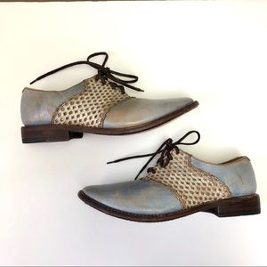 Bed Stu Distressed Leather Cobbler Series Oxfords